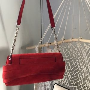 Handbags - Red Tod's red suede leather purse
